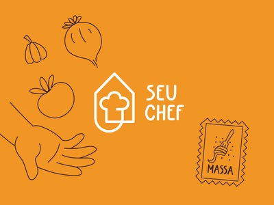 Seu Chef - Restaurant delivery brand design restaurant restaurant branding logo design visual identity symbol mark logotype brand food icon logo branding vector illustration ui ux flat simple minimal