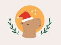 Christmas capybara