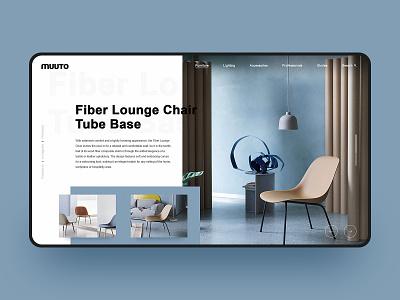 Furniture Chair Web Design muuto design blue simple fashion web design furniture website chair furniture