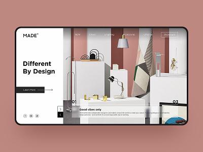 Home Furnishings Web Design lifestyle pink simple web deisgn web color fashion furniture design furniture