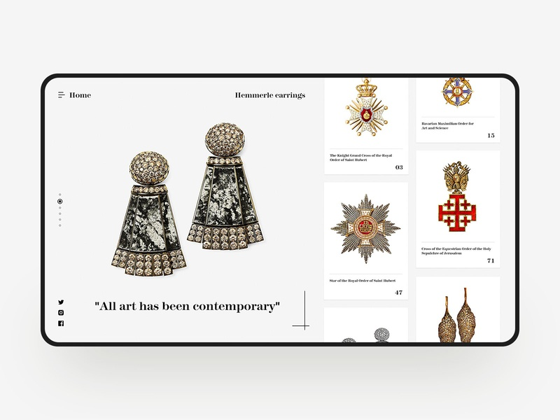Art treasures Web Design creative jewelry art design visual simple web design web fashion e-commerce