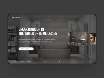 Interior decoration web design