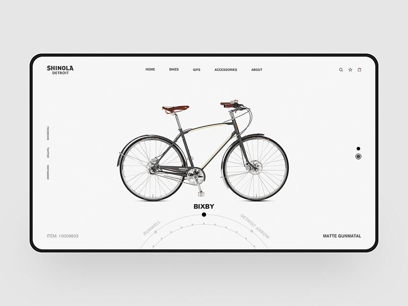 Bike Web Design bicycle color bike visual simple web design web fashion design e-commerce