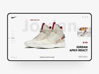 Nike Shoe Web Design