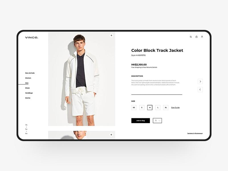 Clothing Web Design brand white clothes clothing jacket color visual web simple web design design fashion e-commerce