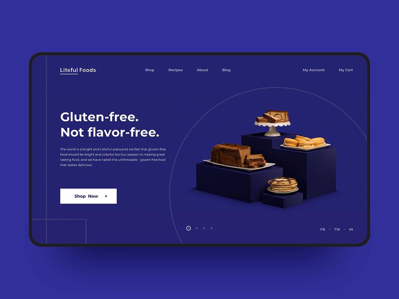 Health Food Web Design rich food bread branding food health breakfast color visual web simple web design fashion design e-commerce