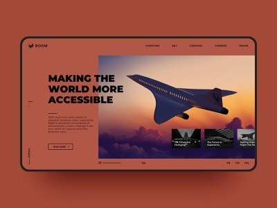 Airplane Web Design supersonic product product design aviation aircraft airplane web color visual simple web design fashion design