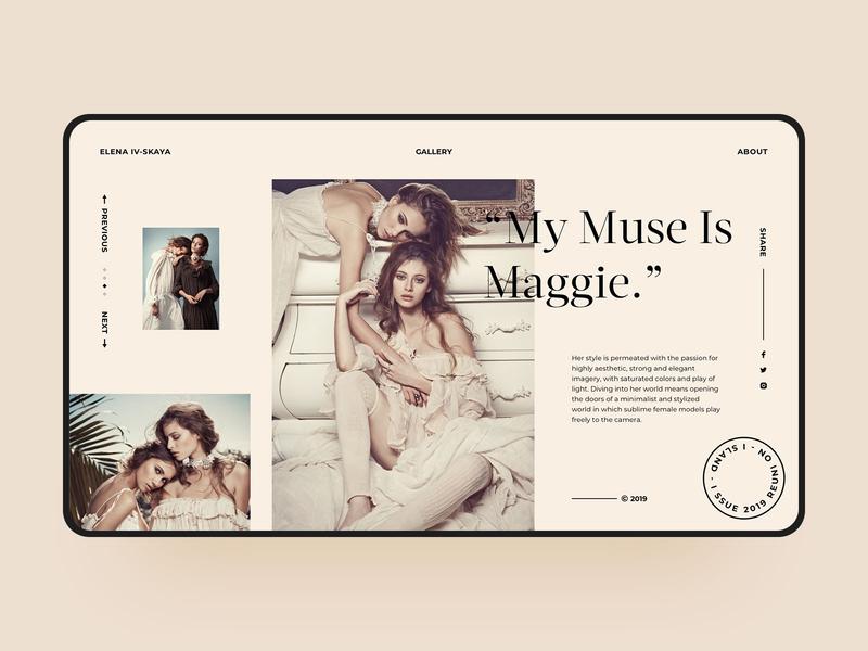 Fashion Photography Web design fashion web design simple web visual color model website product product design photography gallery classical magazine