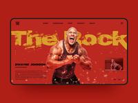 The Rock WWE Web Design