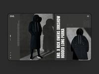 Rick Owens DRKSHDW x End. Web Design