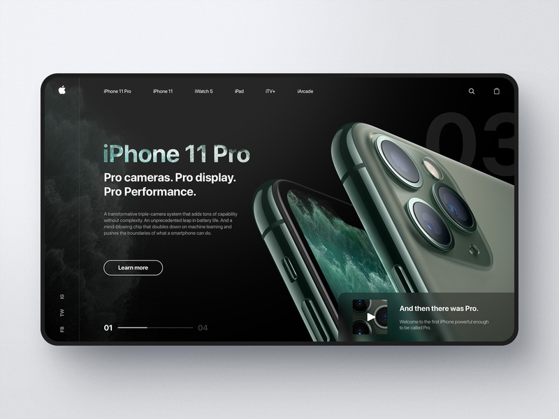 iPhone 11 Pro Web Design product design product ux black iphone 11 pro iphone 11 iphone apple ui e-commerce visual web design web fashion design simple