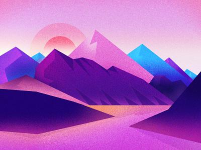 mountain illustrations scenery the