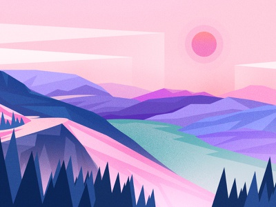 mountain 设计 插图 风景 ui 按键