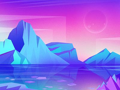 Iceberg 设计 ui 风景 插图