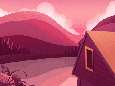 lakeside 设计 ui 风景 插图