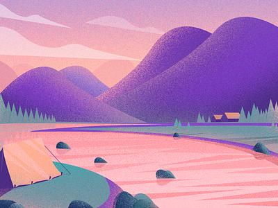 travel 设计 风景 ui 插图
