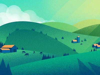 ranch ui 插图 风景 设计 illustrations