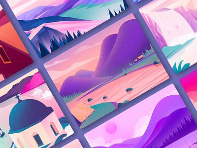 My 2018 collection ui scenery 风景 插图 illustrations