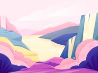 Landscape color color ux pictures branding 庆祝 desk vector design illustrations ui dribbble celebrate scenery 风景 插图