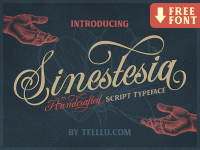Sinestesia script font freebie by telllu & friends dribbble