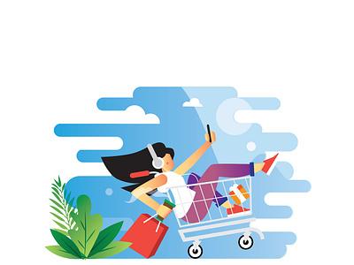 Sale Hunter vector design delivery dribble designer flat design flat branding illustration ux