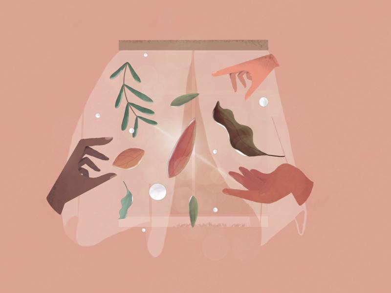 random hands of life leaves seeds random sketches drawing procreate window plants life hands