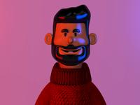 3d- Me gradient selfie 3d art avatar characterdesign cinema4d c4d 3d character design illustration