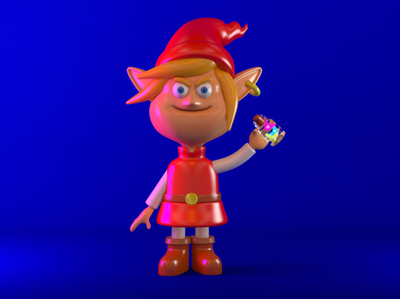 """Bad Link! Let those fairies go!"" toy render modeling nintendo link zelda 3d c4d cinema4d character design"