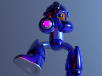 Mega  Man video game 3d modeling cinema4d c4d maxon illustration render megaman 3d