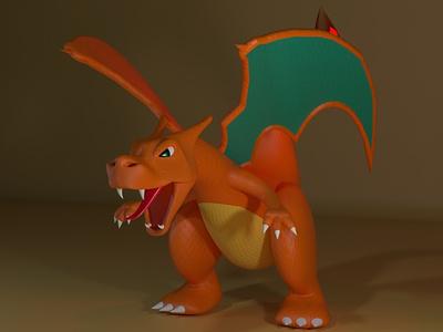 The Zard charizard design c4d cinema4d maxon 3d modeling gaming nintendo pokemon 3d art character