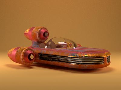 Luke's Speeder space render cinema4d maxon c4d modeling 3d design speeder skywalker starwars