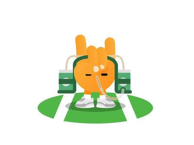 Football Ready! characterdesign motion design beer emoji football sports icon animation flat vector design illustration