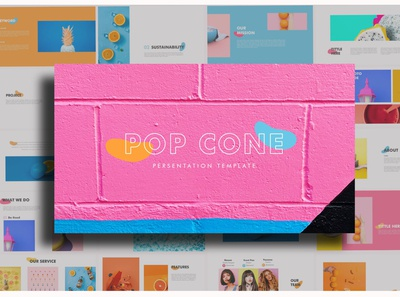 Pop Cone - Full Color Powerpoint Template