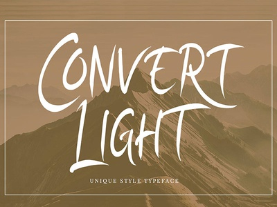 Convert Light | Unique Typeface