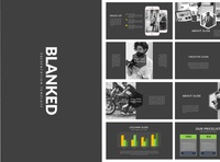 Blanked Dark | Minimal Powerpoint beautiful brochure dark