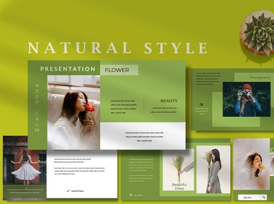 Fashion Natural Style - Powerpoint Template classy stylish fashion