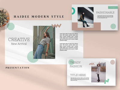 Haidee Modern - Fashion Powerpoint graphic template