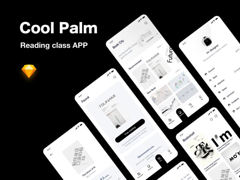 Cool Palm ui typography ux design