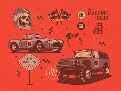 TMC branding design skull cars vector illustrator photoshop digital illustration