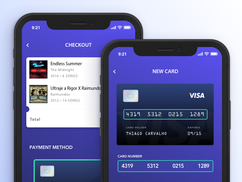 Credit Card Checkout | Exploration checkout ux ui card simple blue payment list daily ui clean app