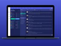 Dark version - Chat/Messenger for a Cryptocurrency platform