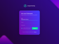 Corponnecty - Sign up