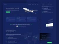 Flight Tracking app - Landing page