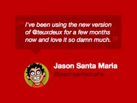 TeuxDeux / Homepage quote