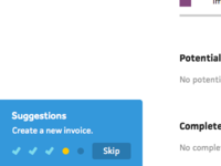 Onboarding Suggestions