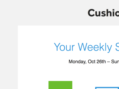 Weekly Summary email app web email
