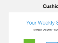 Weekly Summary email