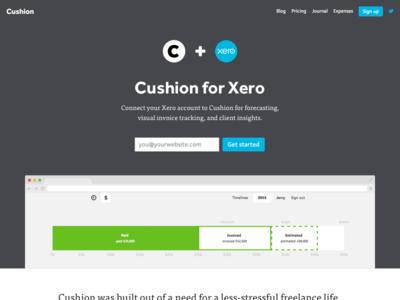 Cushion + Xero xero design integration web