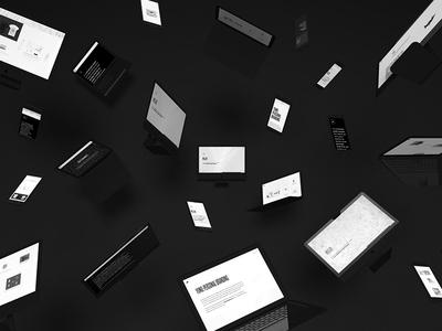 Portfolio Mockup black website portfolio imac mabook apple