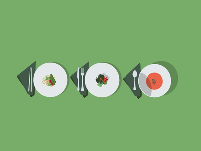 Planning for Healthy Eating Out flat design vector meal plates